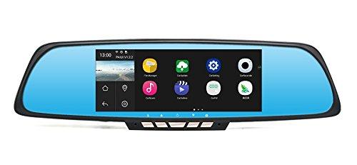 Retrovisor Multimídia Caska IMIRROR e Câmera DVR NAVPRO com Android