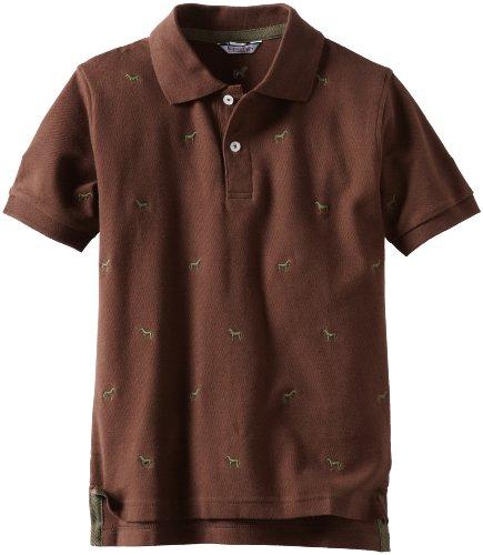 Kitestrings Big Boys' Big Horse Embroidered Cotton Pique Short Sleeve Polo Shirt