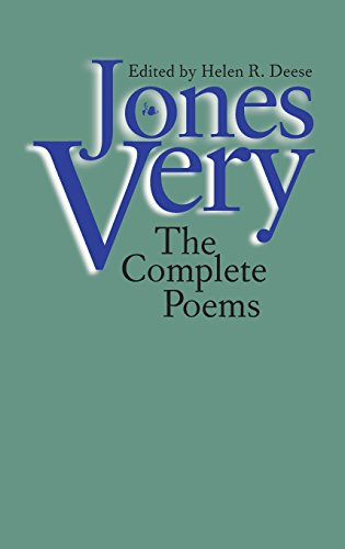 Jones Very: The Complete Poems (World Peace Foundation Study)