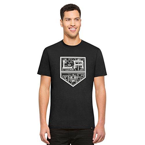 '47 NHL Los Angeles Kings Men's Crosstown Flanker Tee, Jet Black-Logo, Small ()