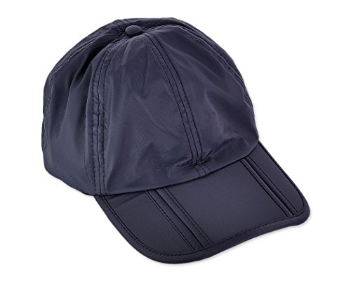Ace Select UV 50+ Protection Splash Waterproof Quick Drying Adjustable Plain Sun Cap Long Brim Foldable Running Outdoor Sports Hat Collapsible Portable Baseball Caps for Men and Women - Dark ()