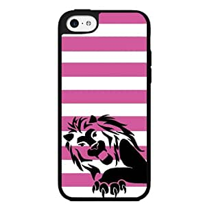Lion with Pink Stripes Hard Snap on Case (iPhone 5c)