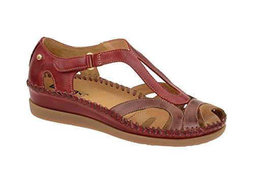 Pikolinos Sandalia Cuero Para Mujer, Color Sandia, Talla: 35 Sandia