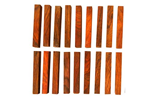Cocobolo Rosewood Pen Blanks-100 pieces 5/8 x 5/8 x 5 inches long, true rosewood (Pen Rosewood Blank)