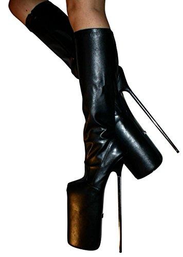 Botas de Material mujer Erogance Kniestiefel Extrem Kunstleder Sintético 30cm para High Polipiel Heels Plateau Yxn88w0zq7