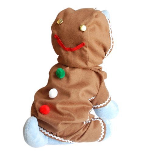 Anit Accessories Gingerbread Man Dog Costume, (Dog Halloween Costume Squirrel)