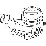 Case IH Tractor 1594, 1690 Water Pump Part No: A-K200759, WN-K200759, 104202, K200759-R