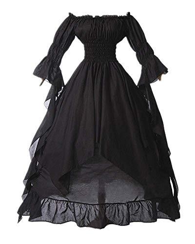 LY-VV Women Plus Size Off Shoulder Renaissance Medieval Dress Costume