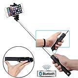 Selfie Stick Compact Self-portrait Extendable Monopod with Wireless Bluetooth Remote Shutter for Motorola Moto X, G, E - RAZR M - DROID RAZR, Maxx, MAXX 2, HD - Droid Turbo, Turbo 2, Mini, Ultra