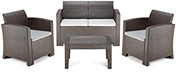 Pamapic 4 Piece Outdoor Patio Furniture Sets with Washable Cushion