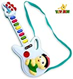 Toyzrin Musical Guitar for Kids with Lights, 8 Sounds (Color May Vary)
