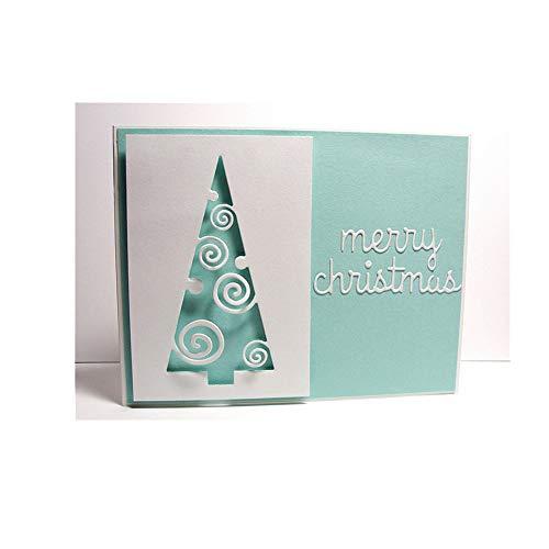 DeemoShop Cutting Dies Christmas Tree Scrapbooking Dies Metal Craft Die Cut Stamps Embossing New 2018 Card Making Decor