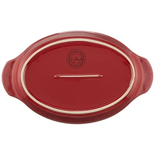 The Mexican Kitchen by Rick Bayless Oval Casserole with Lid, Small, Red