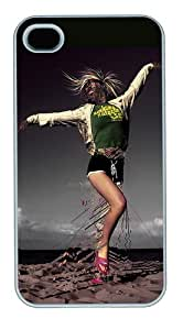 iPhone 4s Case and Cover - Dancing Designing The Characters PC Case For iPhone 4 and iPhone 4S White