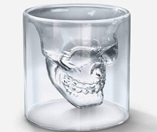 Domire Doomed Crystal Skull Head Shape Vodka Wine Shot Glass Drinking Ware Cup
