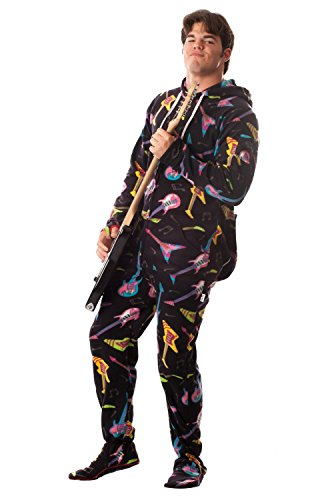 Jumpin Jammerz Electric Guitars (Large) (Funny Onesie Adults)