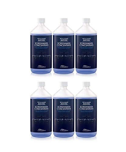 Williams Racing 6 x 1L Screenwash Concentrate | Makes up to 60 litres | Perfect for Winter months | Streak Free Assured Products Limited