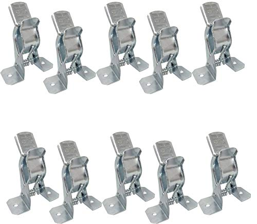 Bulldog Clamp (10 Pack) Spring Grip Garage Closet Wall Organizer for Brooms, Mops, Rakes, Etc.