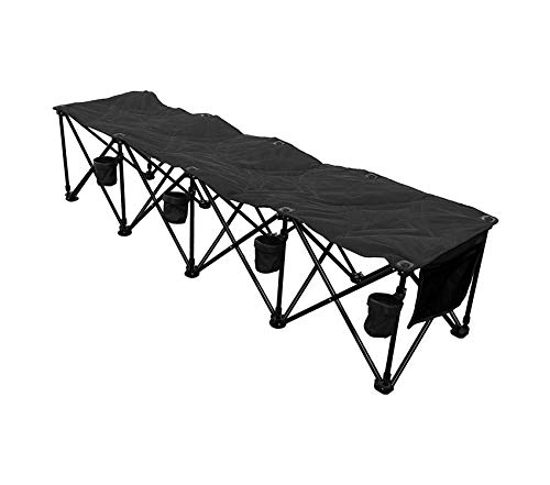 Premium 4 at Portable Folding Team Bench - Black