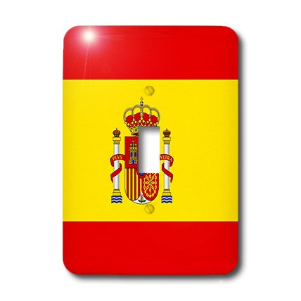 3dRose lsp_28285_1 Spain Flag Single Toggle Switch by 3dRose