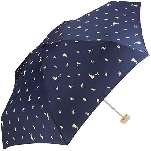ワールドパーティー(Wpc.) ディズニー雨傘 折りたたみ傘 ネイビー 50cm レディース ポーチタイプ プリンセス/白雪姫ドットミニ DS063-179 NV