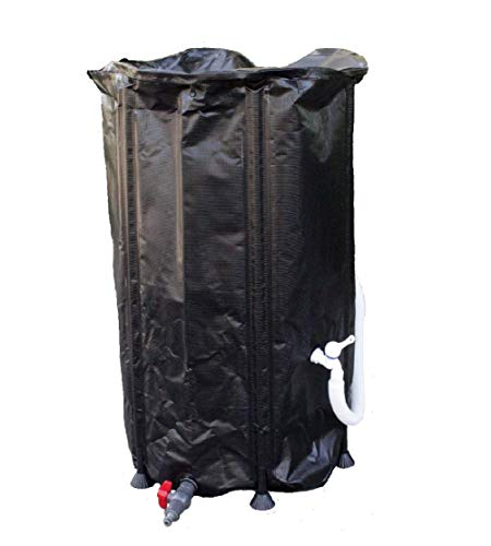 GJH One Collapsible Rain Water Tank Container Barrel Collector Storage Spout 66 ()