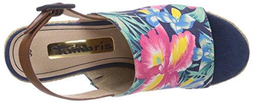 Tamaris 28330 - Alpargatas de lona mujer multicolor - Mehrfarbig (Navy Comb 890)