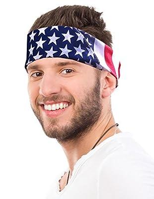 American Flag Bandana Headband US Bandana For Men USA Flag Bandana USA Bandana