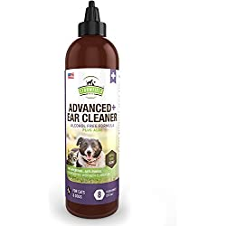 Strawfield Pets Cat Dog Ear Cleaner, 8 oz, Mite Treatment, Yeast Infection, Cleaning Solution Wash for Otic Itching, Odor, Discharge - Antifungal, Antimicrobial Cleanser with Aloe, Apple Kiwi Scent