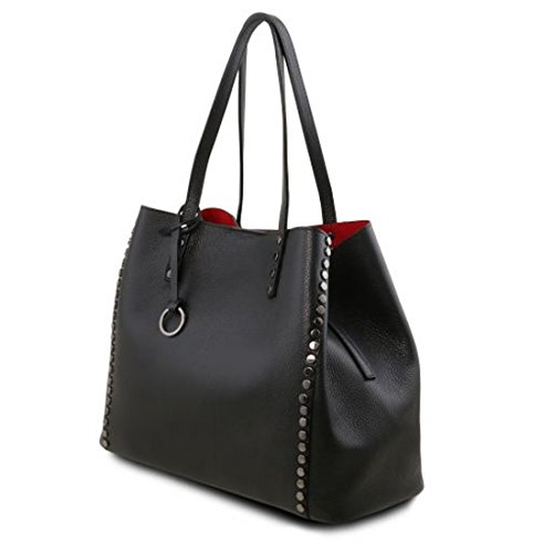 Tuscany Leather TL Bag - Cityshopper aus weichem Leder - TL141624 (Rot) Schwarz