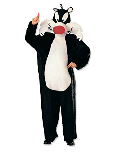 Rubie's Costume Looney Tunes Deluxe Sylvester The Cat Costume, Black/White, One -