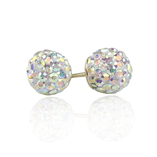 14k Gold Crystal Accent - 8