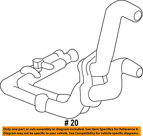Porsche OEM 15-17 Cayenne 3.0L-V6-Cooling Pipe 95810627001 by Porsche (Image #1)