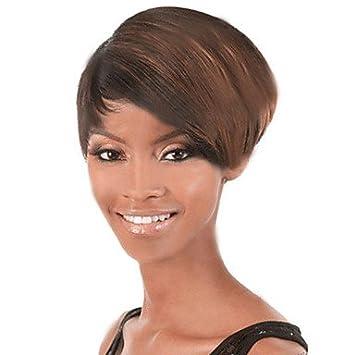 OOFAY JF® pelo corto Pelucas mujeres blancas negras sintéticos europeos pelucas pelucas cortas , multicolor
