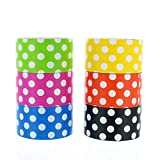 Best Duct Tapes - GIFTEXPRESS 6pk Assorted Colored Duct Tapes, Polka Dot Review