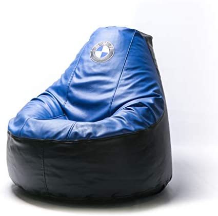 B.M.W. Supercar Comfortable Kids Adult Game Outdoor Indoor Lounge Chair Beanbag Cover Without Beans Blue