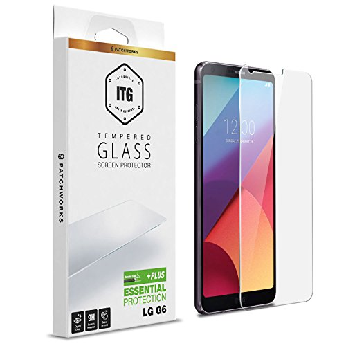 LG G6 Screen Protector, Patchworks ITG Plus Made in Japan 9H 0.33mm Beveled Edge Scratch Resistant Oleophobic Coated Tempered Glass for LG G6 - Clear