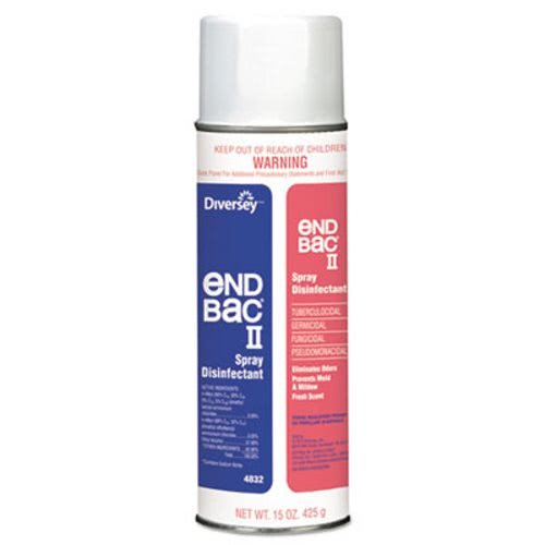 Diversey End Bac II Spray Disinfectant, Unscented, 15oz Aerosol - 12 15-ounce aerosol cans per case.