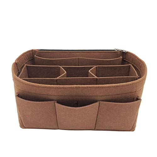 (LEXSION Felt Handbag Organizer,Insert purse organizer Fits Speedy Neverfull 8001 Brown M)
