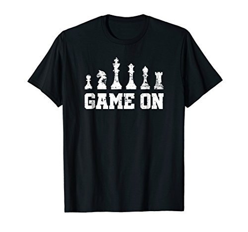 Chess T-Shirt Vintage Birthday Gift for Chess Player Game On (Best Chess Game Ever For Pc)