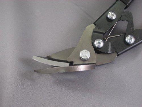Klenk offset 10-1/2'' aviation snips, green grips, right cut MA75210