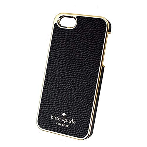Kate Spade New York Leather Wrap Case for iPhone SE / 5 / 5s - Black and Gold KSIH-037-BLK-V (Iphone 5s Gold Wrap)