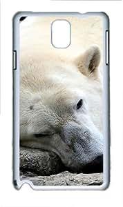 Samsung Galaxy Note 3 N9000 Case,Sleeping Dog Bear PC Hard Plastic Case for Samsung Galaxy Note 3 N9000 Whtie