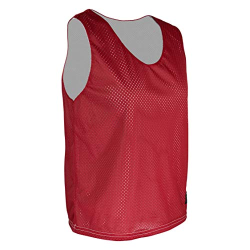 - Game Gear AP-896W-CB Women's Athletic Mesh Poly Round Neck Sleeveless Reversible Jersey (X-Small, Red)