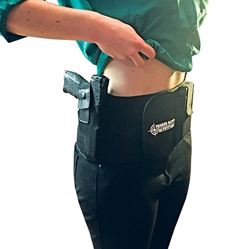 Belly Band Holster – ALWAYS PROTECT YOUR LOVED ONES AND NEVER WORRY ABOUT SAFTEY AND SECURITY AGAIN – Fits Snug And Soft Around The Waist – LUMBAR SUPPORT – by Trigger Happy Outfitters - M4 Trigger Guard