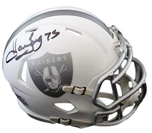 Howie Long Autographed Oakland Raiders Ice Mini Helmet JSA ()