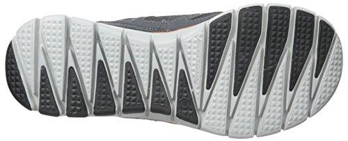 Skechers Skech Flex - Life Force, Sneakers basses homme, Gris (charcoal/orange Ccor), 40