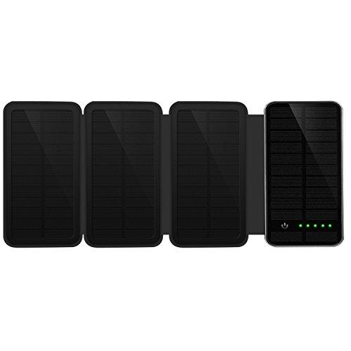 IVSO 10000mAh Solar Ladegerät 10000mAh Power Bank mit Dual USB Externe Akku für iPhone, Android-Handys, andere Smartphones sowie elektronische Geräte und auch iPad oder andere Tablet PC.
