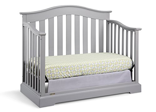 Graco Westbrook Crib, Pebble Gray, Easily Converts to Toddler Day or Full Height Mattress, Some Required