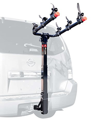 Allen Sports 3-Bike Hitch Mount Rack with 1.25/2-Inch Receiver - Mount Rack 3 Bike Carrier